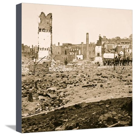 Richmond, Va. Grounds of the ruined Arsenal with scattered shot and shell Stretched Canvas Print Wall Art ()