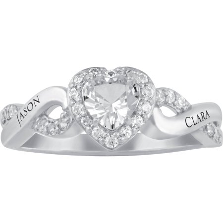 Personalized Keepsake Starry Commitment Ring