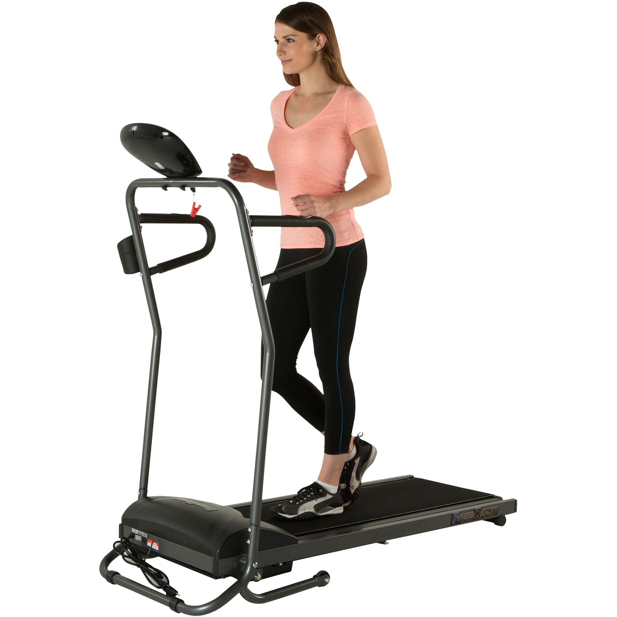 Fitness Reality TRE5000 Compact Foldable Electric Treadmill with Heart Pulse System