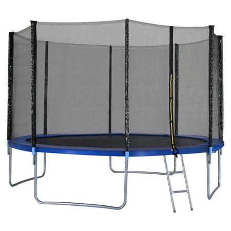 12FT Trampoline Combo Bounce Jump Safety Enclosure Net W/Spring Pad Ladder - image 4 of 10