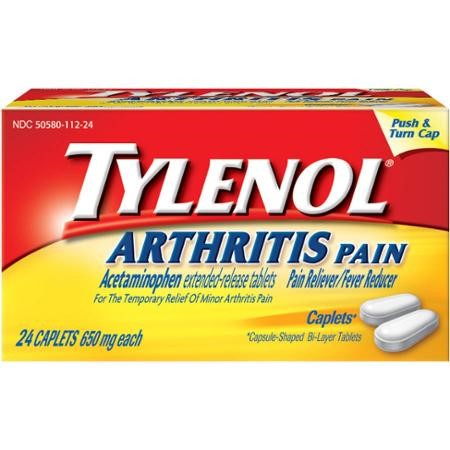 TYLENOL® 8 HR Arthritis Pain Extended Release Caplets, Pain Reliever, 650 mg, 24 ct. (Pack of 4)