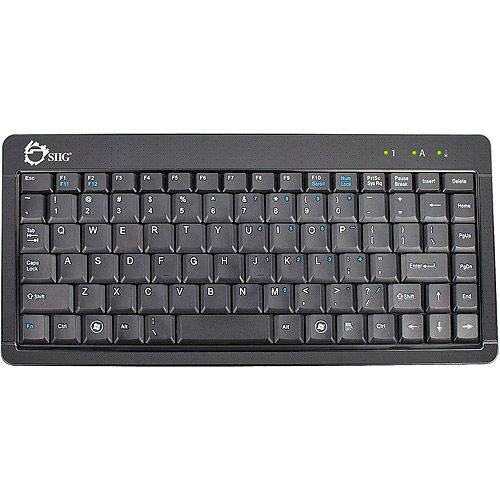 Siig USB Ultra Slim Mini Keyboard, Black