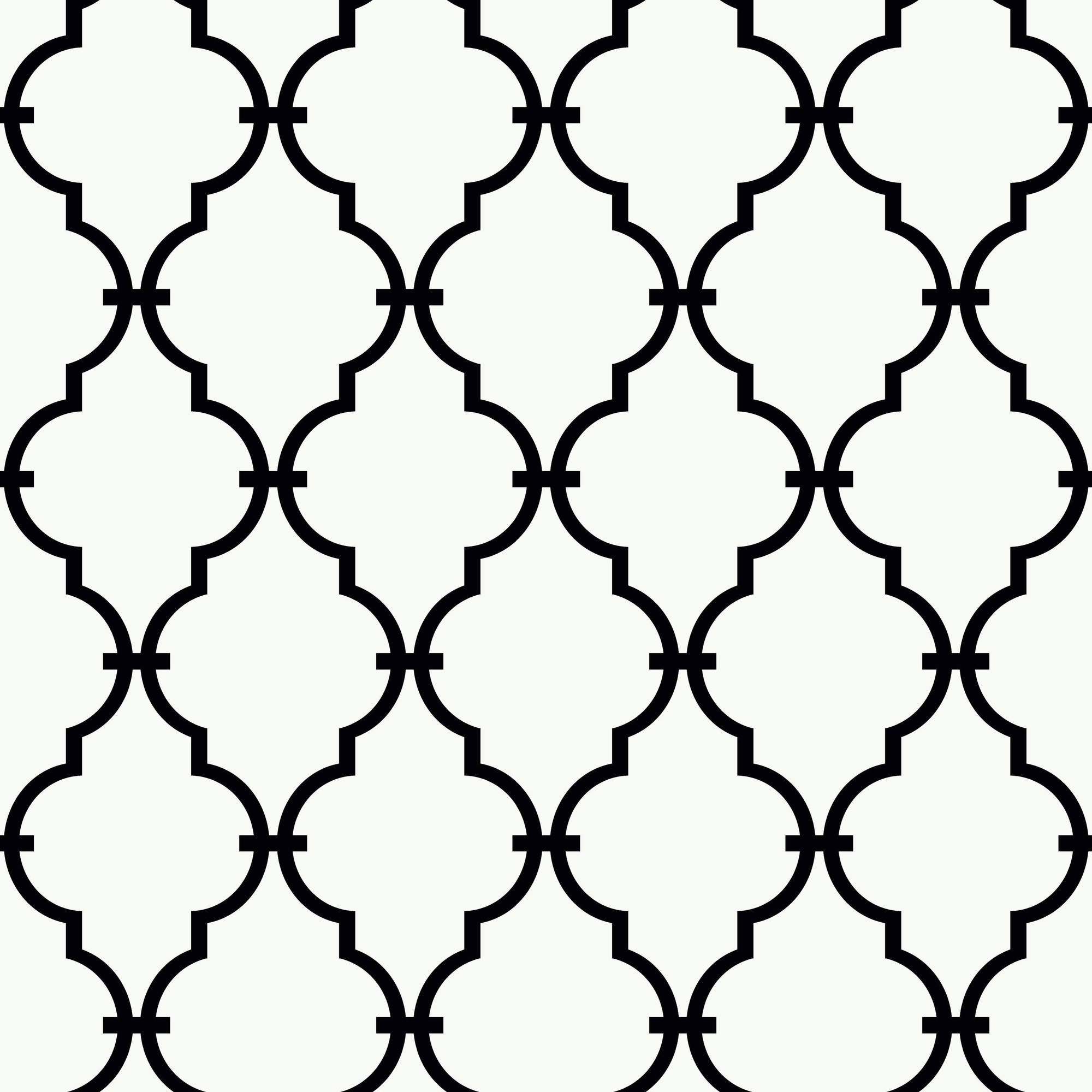 Black & White Modern Trellis Wallpaper