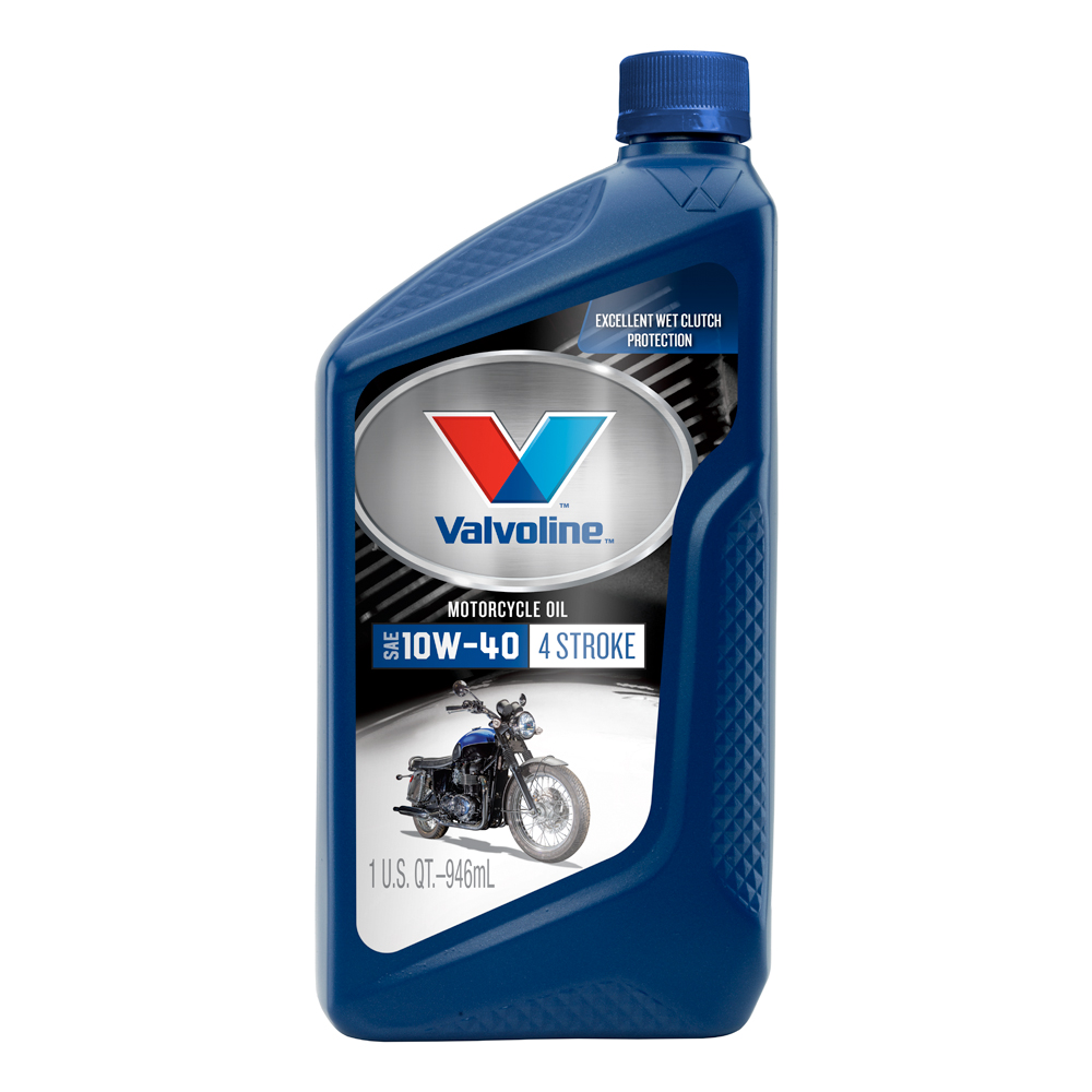 (4 Pack) Valvoline™ 4-Stroke Motorcycle SAE 10W-40 Conventional Motor Oil - 1 Quart