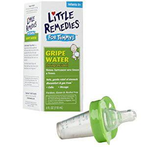 Little Remedies Tummys Gripe Water with Pacifier Medicine Dispenser, Green
