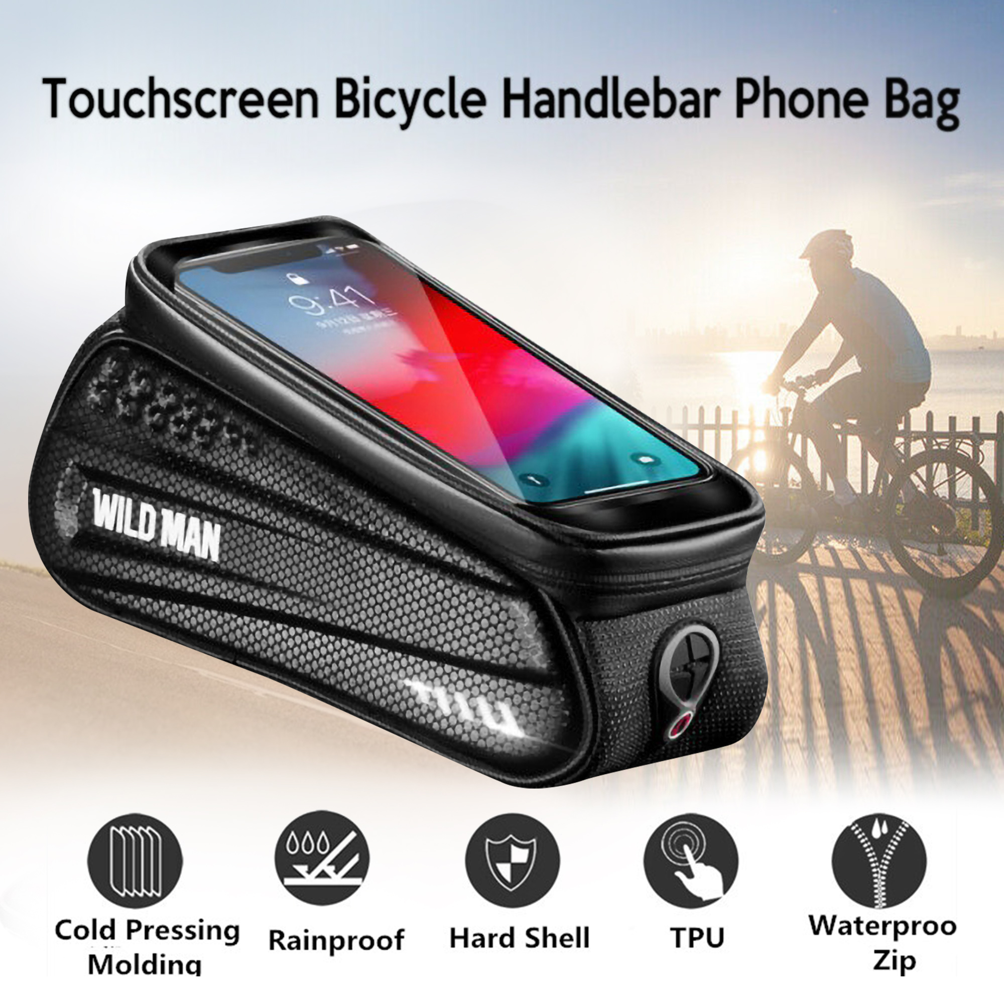 Bicycle Cycling Bike Frame Front Tube Waterproof Mobile Phone Bags Pouch Holder