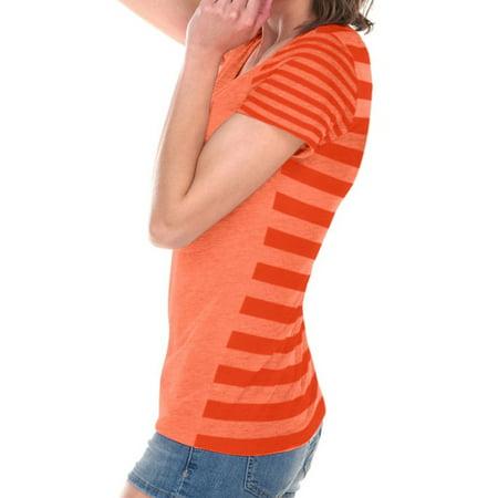 Juniors Striped Jersey Multi Short sleeve, Style JJP0634 Orange Striped Soccer Jersey