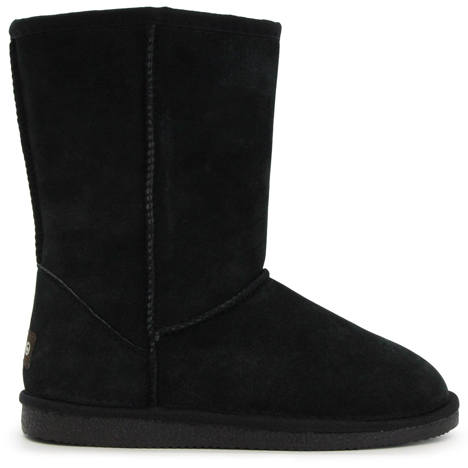 "Lamo 9"" Women's Faux Snow Sheepskin Shearling Boots Suede Size 5 by Overstock"