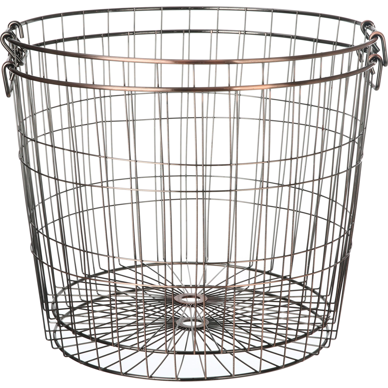 Mainstays Large Round Wire Copper Basket 2 Pack Walmart Com Walmart Com