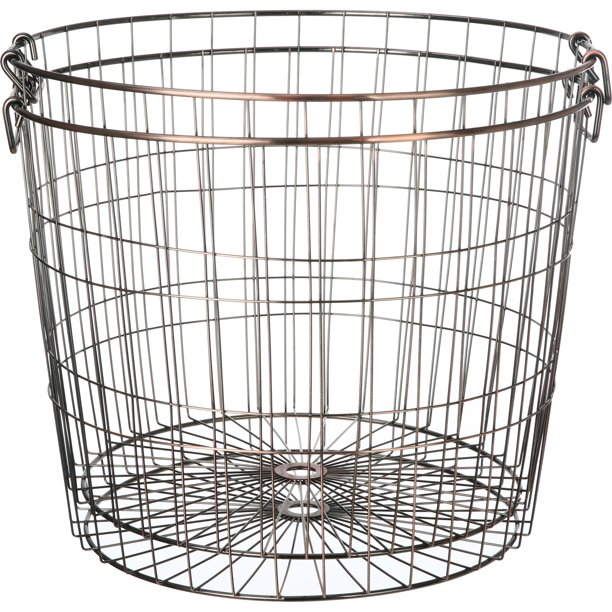 Mainstays Large Round Wire Copper, Large Round Wire Basket