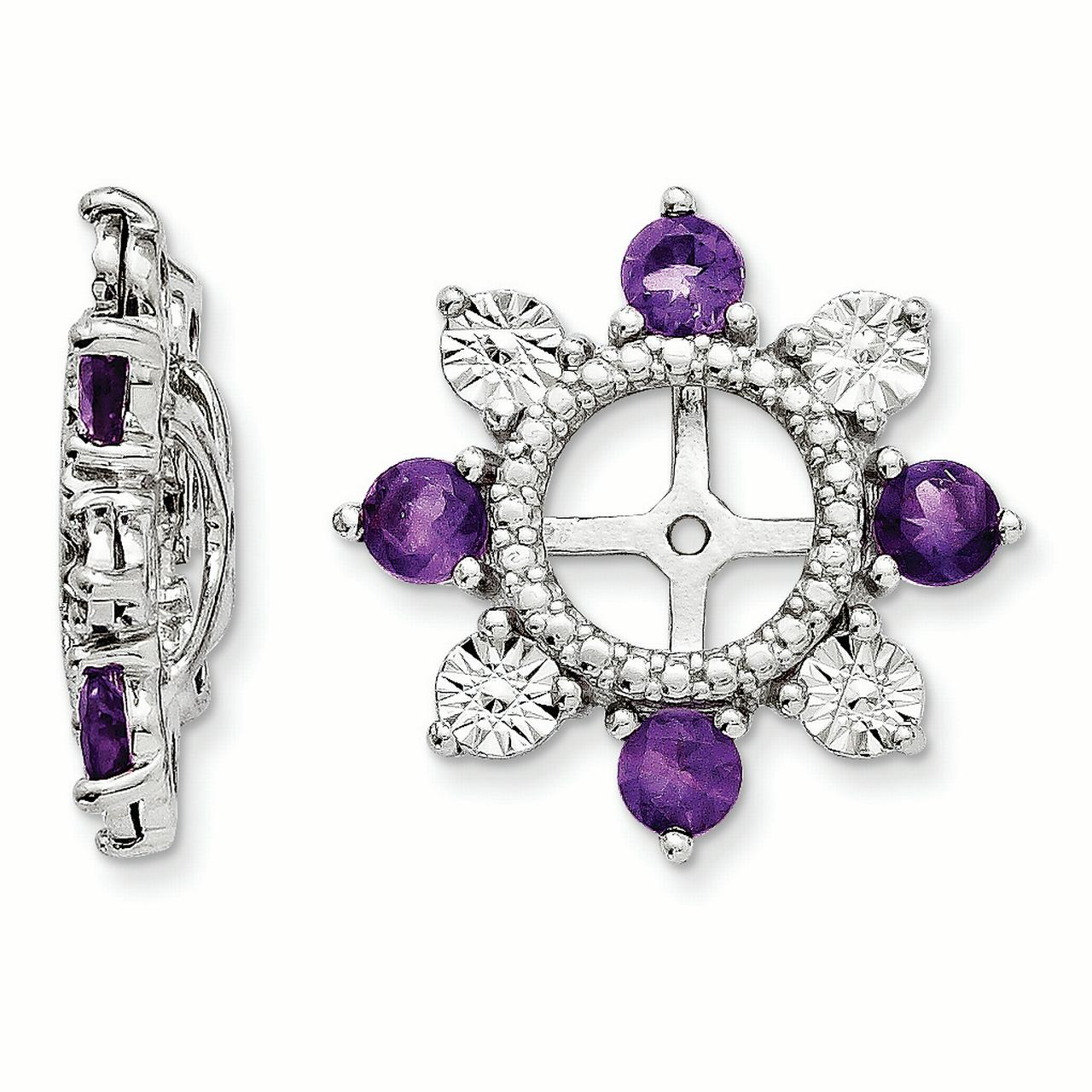 Sterling Silver Amethyst Earring Jacket