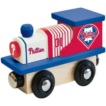 Philadelphia Phillies Wood Train Engine - No Size