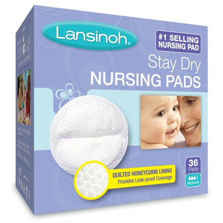 Contoured Disposable Breast Pads - Lansinoh Stay Dry Disposable Nursing Pads, 36 Count