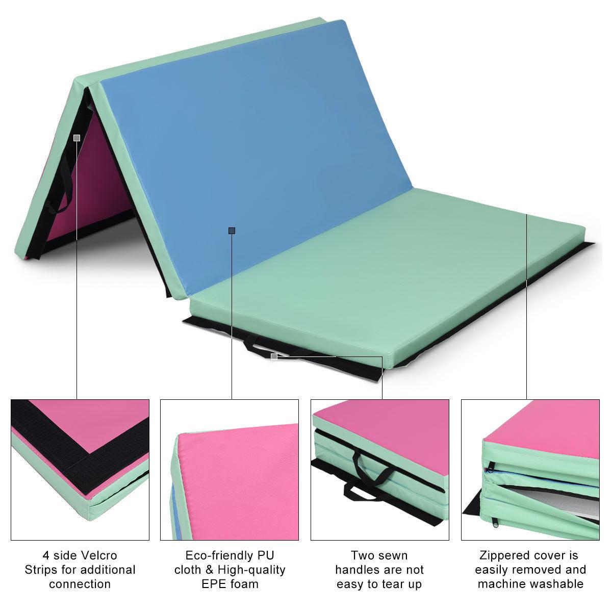 Gymax 4'x6'x2'' Portable Tri-fold PU Gymnastic Mat Exercise Aerobics Gym Fitness - image 4 of 8