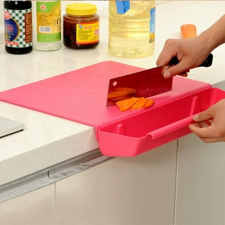Jeobest Chopping Board Plastic - Cutting Boards for Kitchen - Kitchen Chopping Board - 2 In 1 Kitchen Chopping Block Cutting Board Chopping Board with Storage Box Drawer Type Design MZ