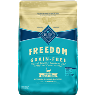 Blue Buffalo Freedom Grain Free Natural Indoor Adult Dry Cat Food, Fish, 11-lb.