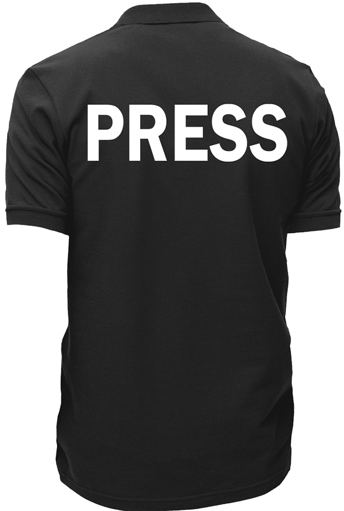 Employee Staff shirt NEWS Crew Polo shirt Occupational PRESS Polo shirt