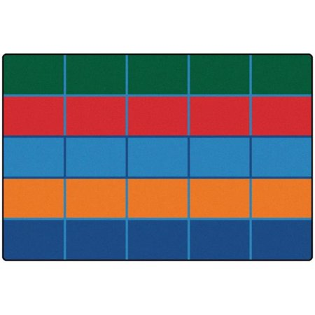 - Carpets for Kids 72.91 Color Blocks Value Seating Rug  6 ft. x 9 ft.