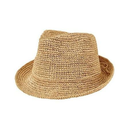 Women's San Diego Hat Company Crochet Raffia Fedora (Raffia Crochet Hat)