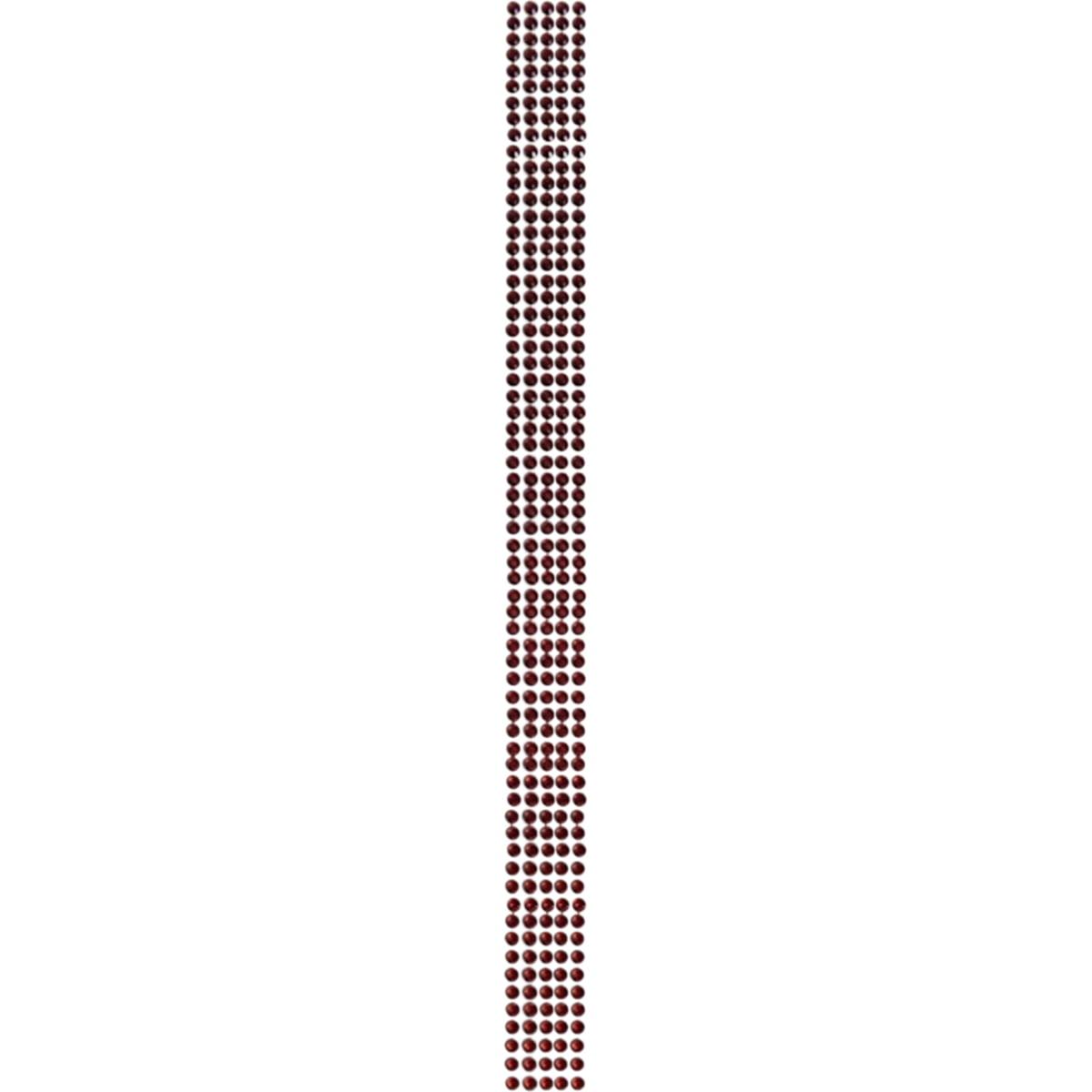 "Want2scrap Want2Scrap Self-Adhesive Sleek Strips Bling 4mm 12""-Red Rhinestones"