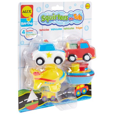 ALEX Toys Rub A Dub Squirters for the Tub -Vehicles