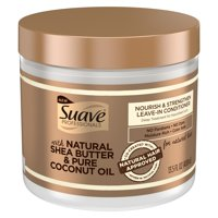 Suave Professionals for Natural Hair Nourish and Strengthen Leave-in Conditioner Paraben-Free and Dye-Free for Coily Hair 13.5 oz
