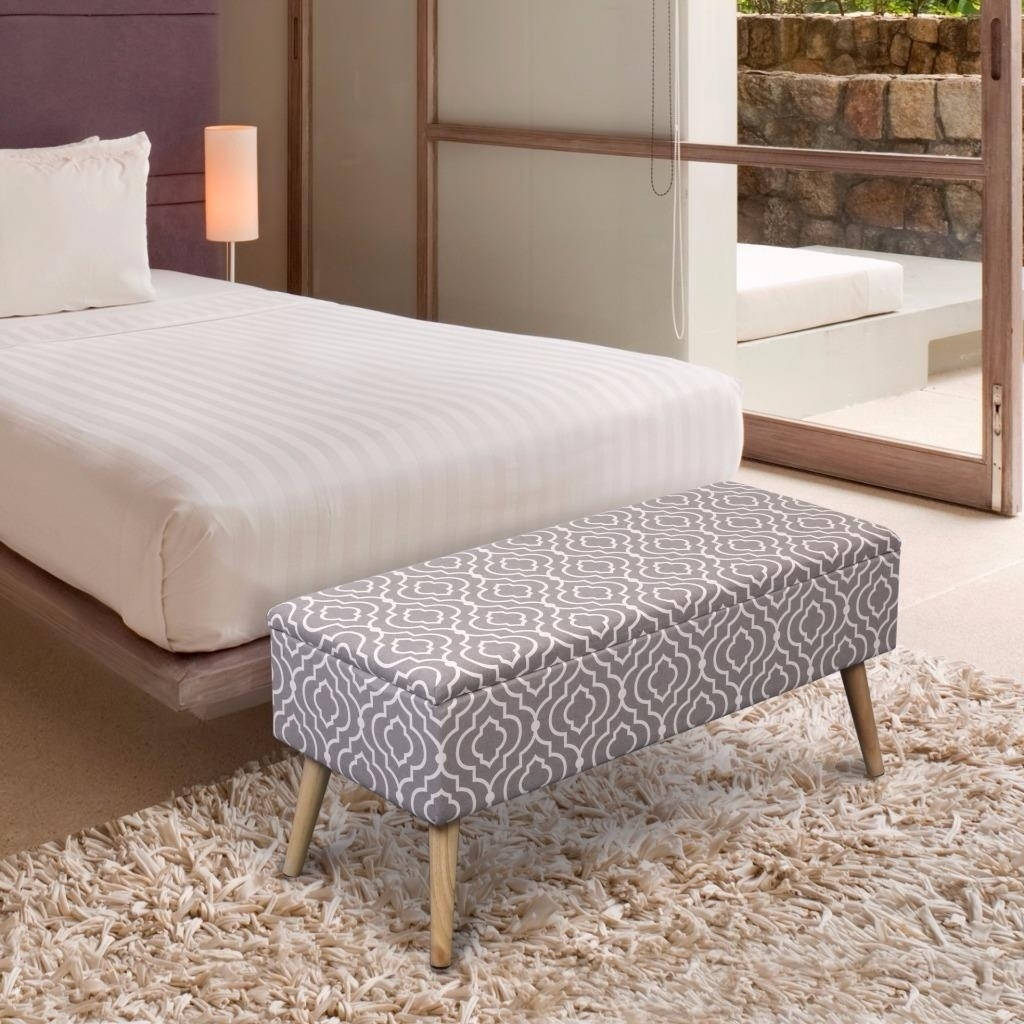 Crown Comfort Storage Ottoman Bench 37 Inch Easy Lift Top