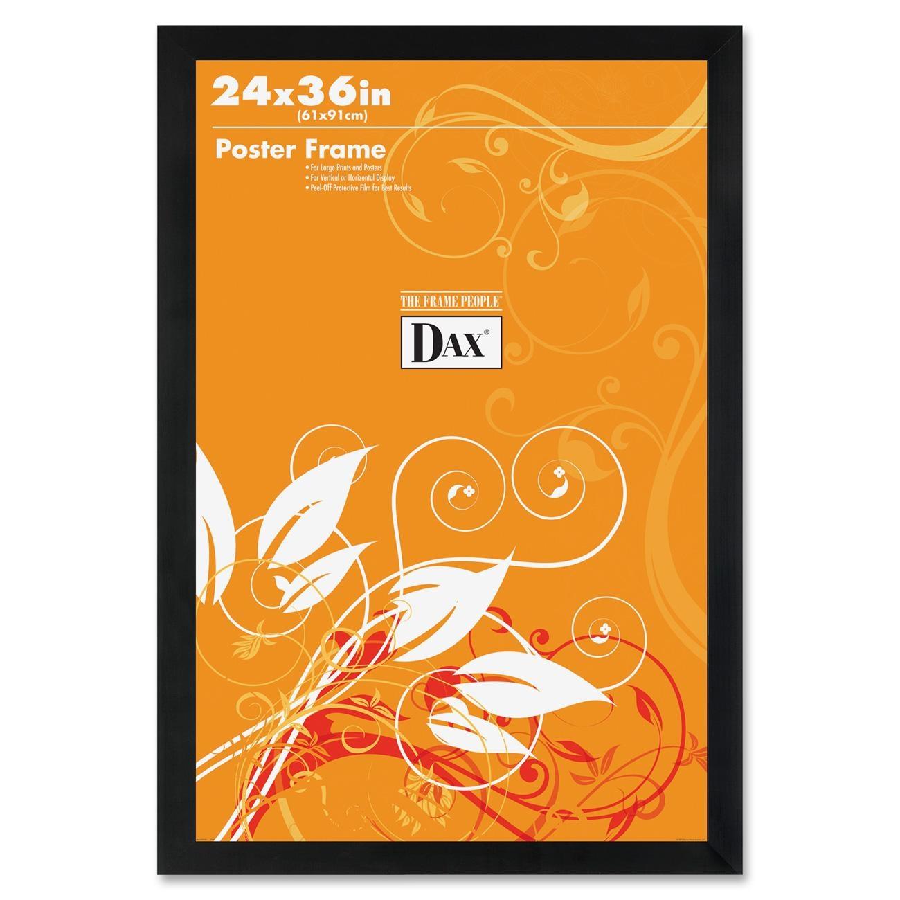 "Burnes Poster Frame - 24"" X 36"" Insert - Wall Mountable - Vertical, Horizontal - Black (2863U2X)"