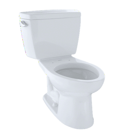 (TOTO® Drake® Two-Piece Elongated 1.6 GPF ADA Compliant Toilet, Cotton White - CST744SL#01)