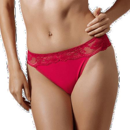 Brazilian Classic Thong (Lace Brazilian Thong Panty Lavinia Raspberry Kiss )