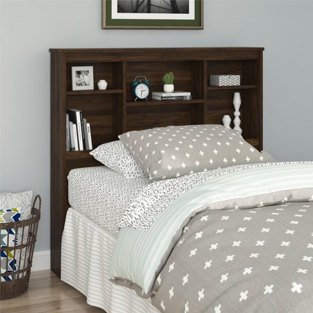 - Mainstays Twin Storage Headboard, Walnut