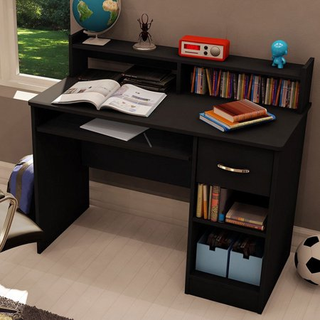 - UBesGoo Computer Desk Study Table PC Desktop w/ Drawerr Shelf Home Office Black