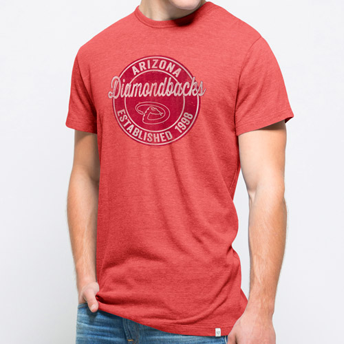 Arizona Diamondbacks '47 Tri-State Tri-Blend Slub T-Shirt - Red