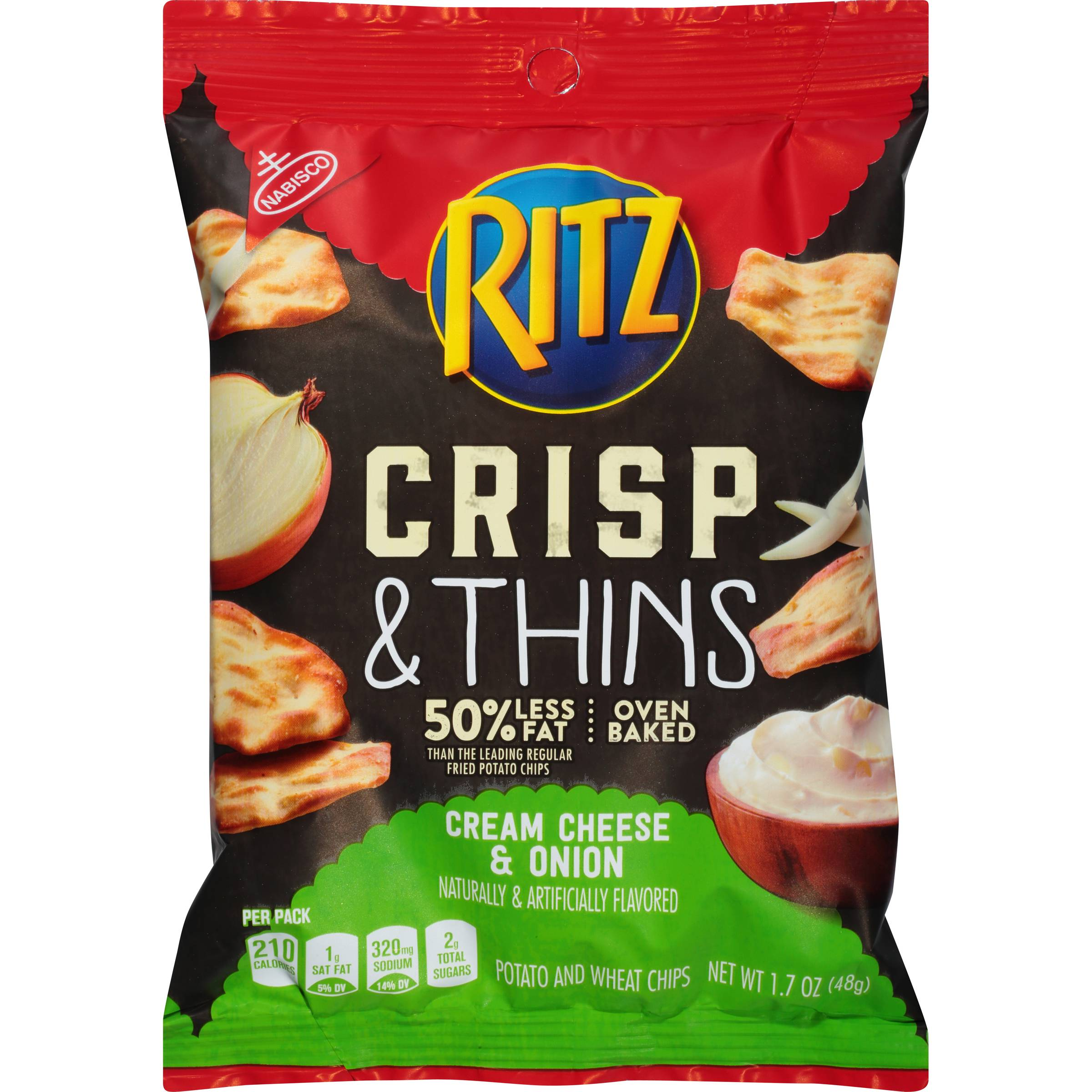 Ritz Crackers Cream Cheese & Onion, 1.7 Ounce (12 Pack)