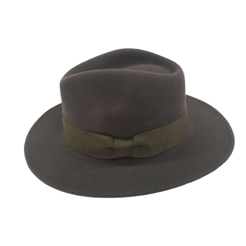 Alpas Men s Classic Stefano Black Brown 100% Wool Felt wide Brim ... b0555f75b89