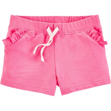 Carter Uniform - Carters Toddler Girls Solid Ruffle Pull-On Shorts