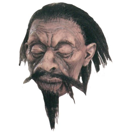 Shrunken Head Halloween Prop Latex Realistic Detail Haunted House/Party (Mickey's Halloween Party Details)