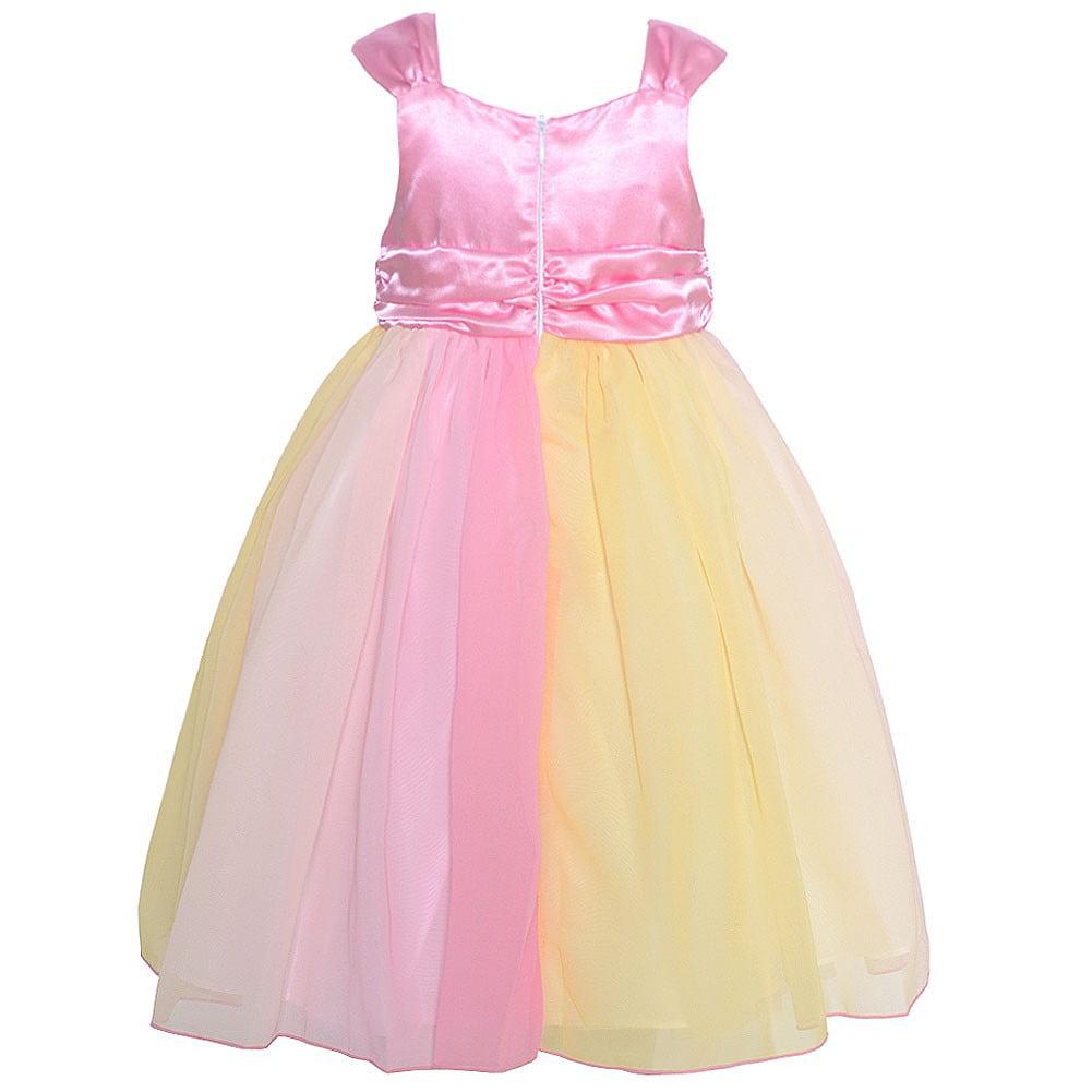 19a428c9f0bf5 Mia Juliana - Mia Juliana Little Girls Pink Ombre Flower Adorned Chiffon  Dress 3T - Walmart.com