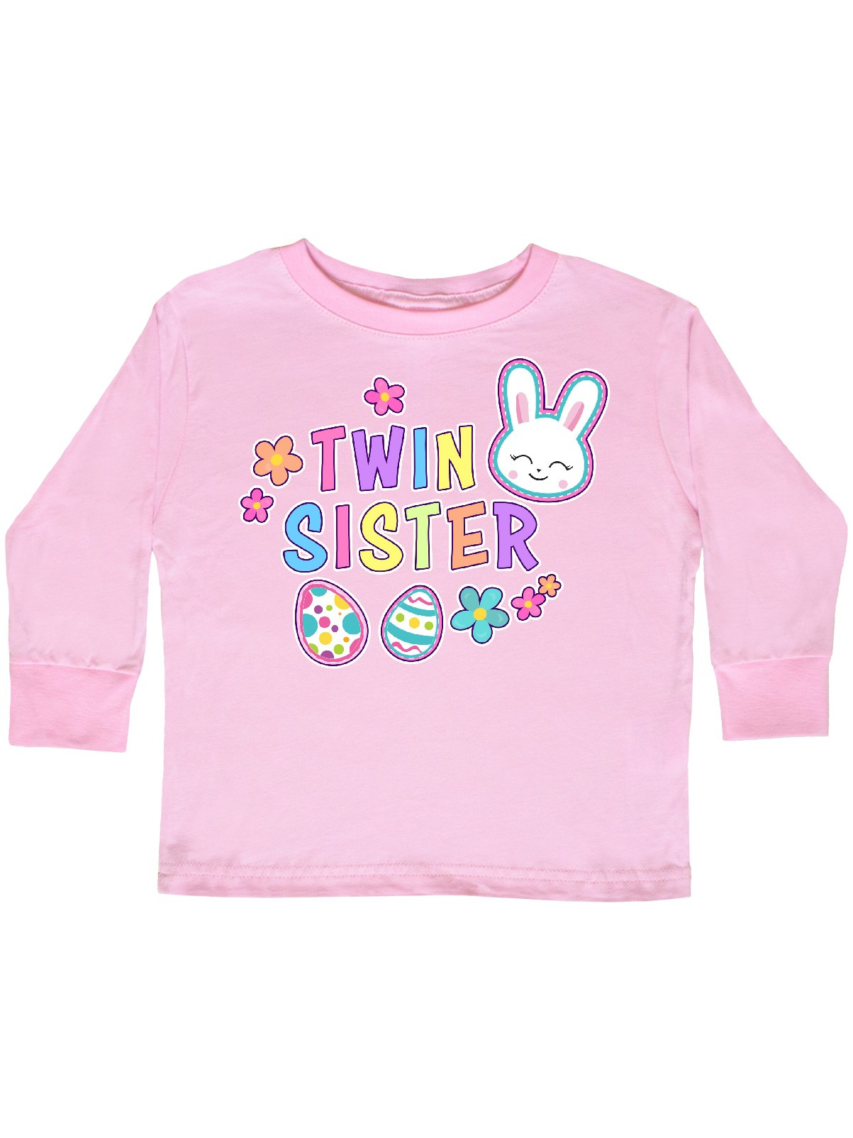 inktastic Baby Sister with Bunny Face and Easter Eggs Toddler T-Shirt