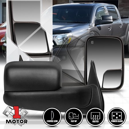 00 Toyota Tacoma Mirror ([Pair]Power+Heated Flip Up Foldable Towing Side Mirror for 05-15 Toyota Tacoma 06 07 08 09 10 11 12 13 14 )
