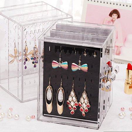 OCDAY Transparent Women Jewelry Display Shelf Practical Desktop Earrings Holder Rack - image 1 of 10