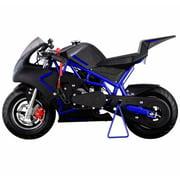 40CC 4-Stroke Gas Power Mini Pocket Motorcycle Ride-on, Blue Black, EPA Certificated by