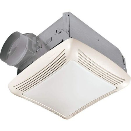 NuTone 763 50 CFM 2.5 Sone Ceiling Mounted HVI Certified Bath Fan with Incandescent Light