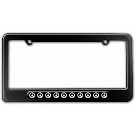 Peace Signs License Plate Tag Frame, Multiple Colors Peace License Plate