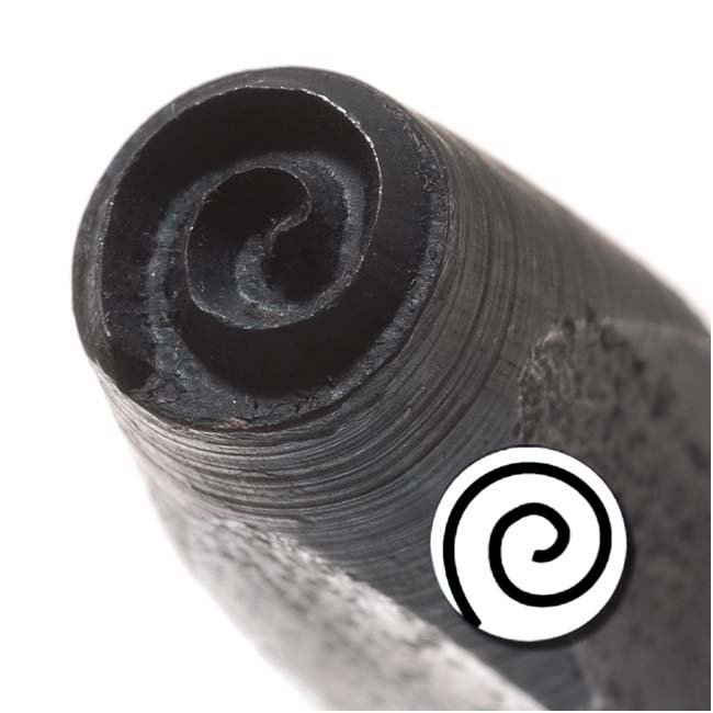 Mod Spiral Punch Stamp For Blanks 1/5 Inch 5mm (1)