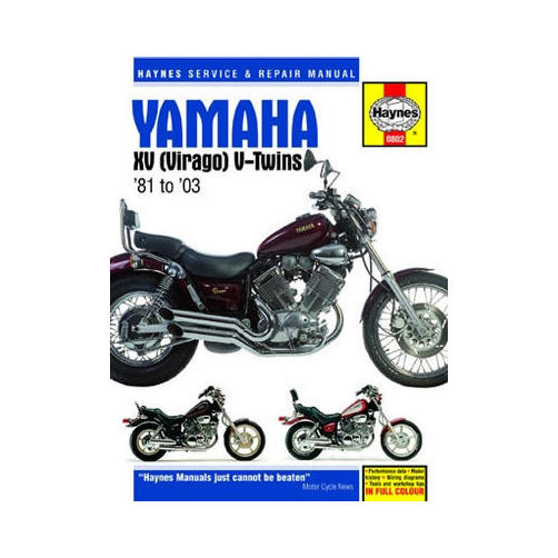 Haynes Motorcycle Repair Manual for Yamaha XV Virago V-Twin All 1981-2003