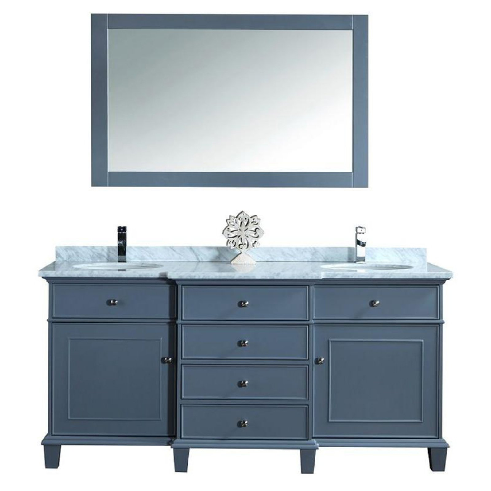 Stufurhome Cadence 72 In. Double Sink Bathroom Vanity With Mirror    Walmart.com