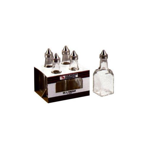 6 Ounce Oil and Vinegar Condiment Cruet Clear, Stainless ...