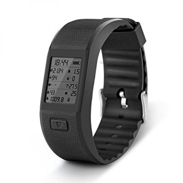 Hesvit Multi Sport Fitness Tracker Wristband Watch for Activity Tracker Bracelet/Fitness Watch Compatible with Android and IOS System (Black)