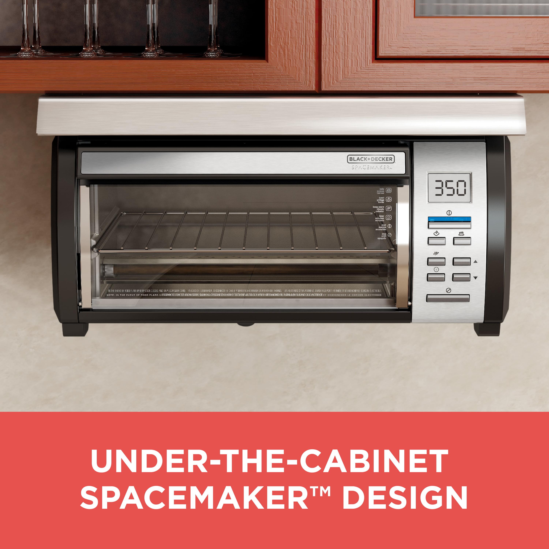 Black Decker Emaker Under Counter Toaster Oven Silver Tros1000d